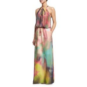 Elie Tahari Women York Sleeveless Watercolor Dress